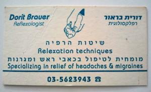 Reflexology card